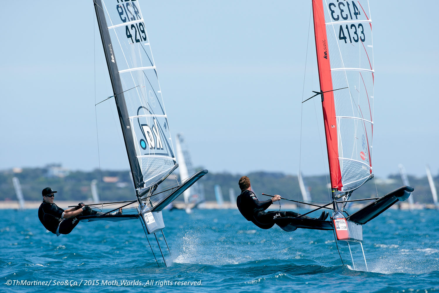 2015 Moth Worlds  Day 2.  023,Peter BURLING,NZL 4219, 132,Tom SLINGSBY,AUS 4133