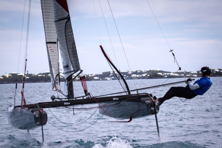 Ben Ainslie Racing team training in Bermuda