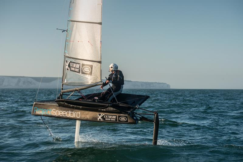 Hannah White crosses the English Channel solo in a record time of 3 hours 44 minutes Photo © Anthony Cullen