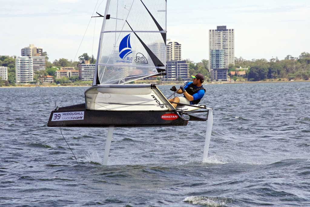 Steve Thomas. Image by Rick Steuart of Perth Sailing Photography