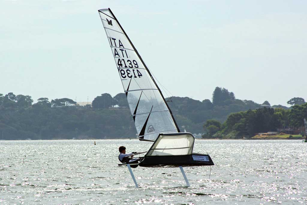 Stefano Ferrighi. Image by Rick Steuart of Perth Sailing Photography