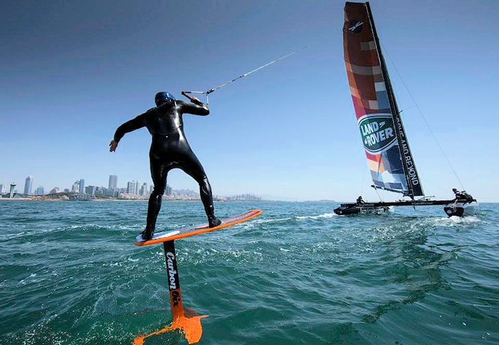 extreme40 tow a kitefoil