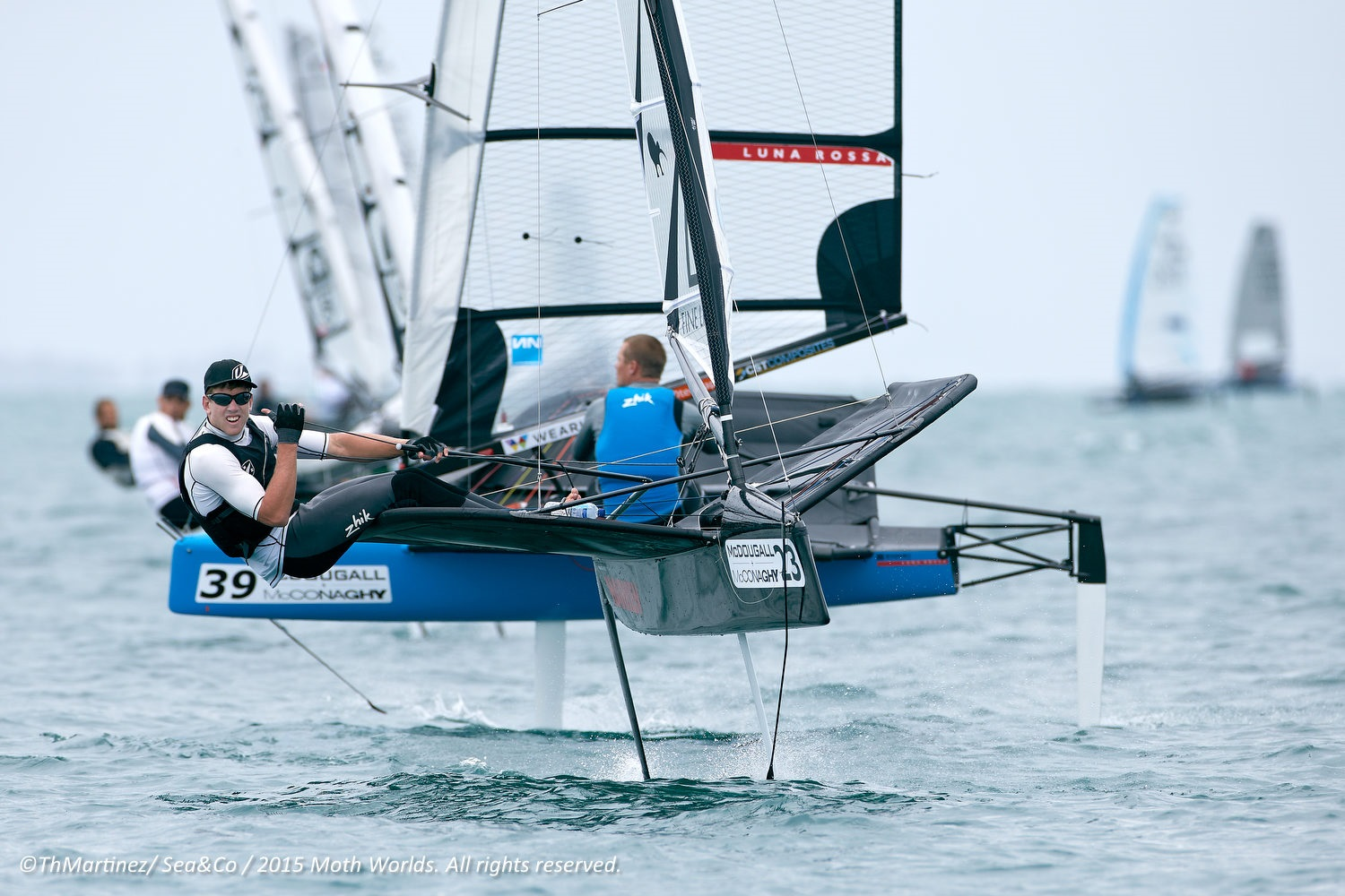2015 McDougall + McConaghy Moth Worlds. Sorrento - VIC AUSTRALIA  . 6/16 January 2015. 023,Peter BURLING,NZL 4219, 039,Chris DRAPER,GBR 4050