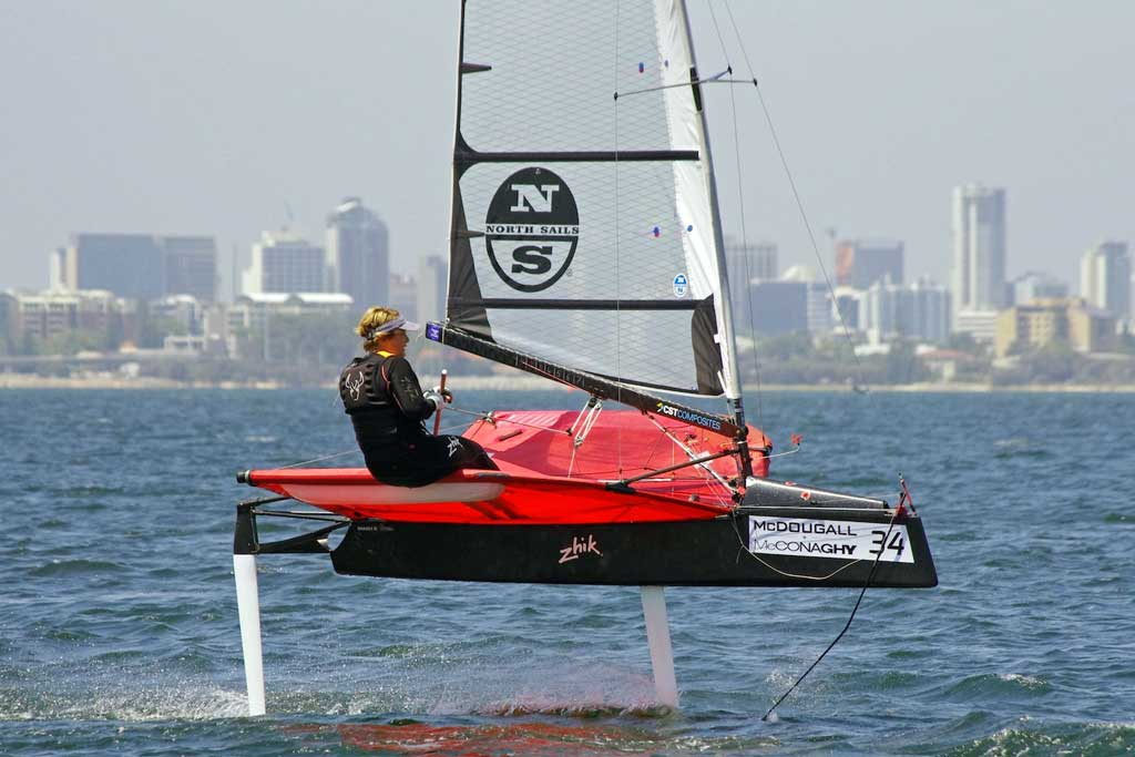Emma Spiers. Image by Rick Steuart of Perth Sailing Photography