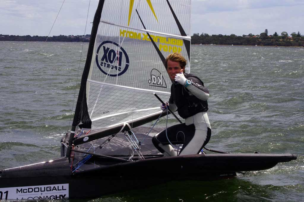 Josh Mcknight. Image by Rick Steuart of Perth Sailing Photography
