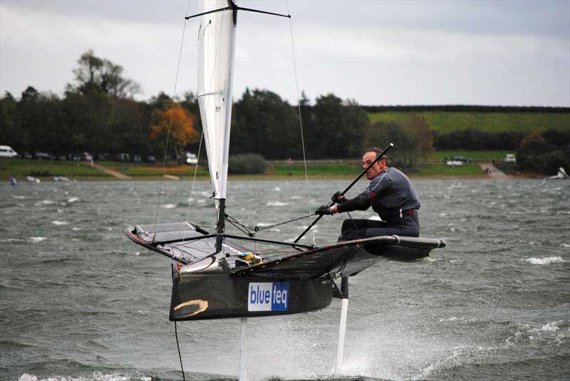 Event winner Ricky Tagg during the Draycote International Moth Grand Prix. Photo © Fabian Katz