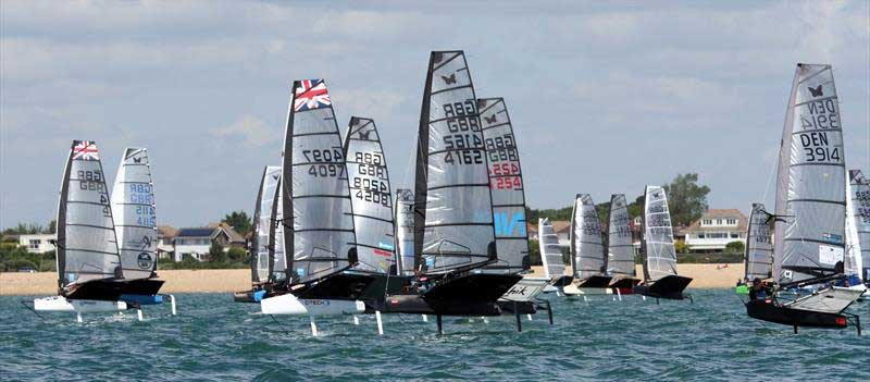 The fleet on day 3 of the International Moth UK Nationals at Stokes Bay. photo © Mark Jardine